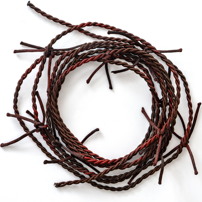 Barb Wire Garland Decorations - Rusty Barbed Wire Country Rodeo Western Themed Indoor and Outdoor Home Party Décor
