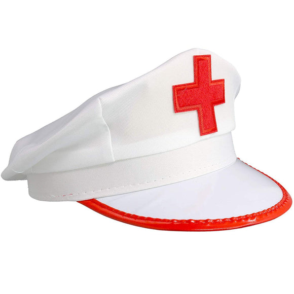 White Nurse Costume Hat