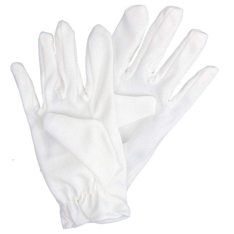 White Child Costume Gloves - Formal Kids Size Wrist Glove Set for Boys and Girls
