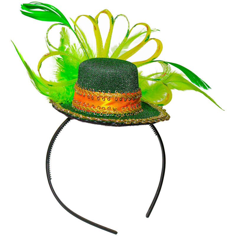 Green Top Hat Headband - St Patricks Day Irish Green Mini Hat Dress Up Hair Costume Accessories Head Band for Women and Children