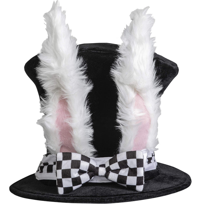 White Rabbit Top Hat - Bunny Rabbits Dress Up Costume Hat with Ears for Adults and Children