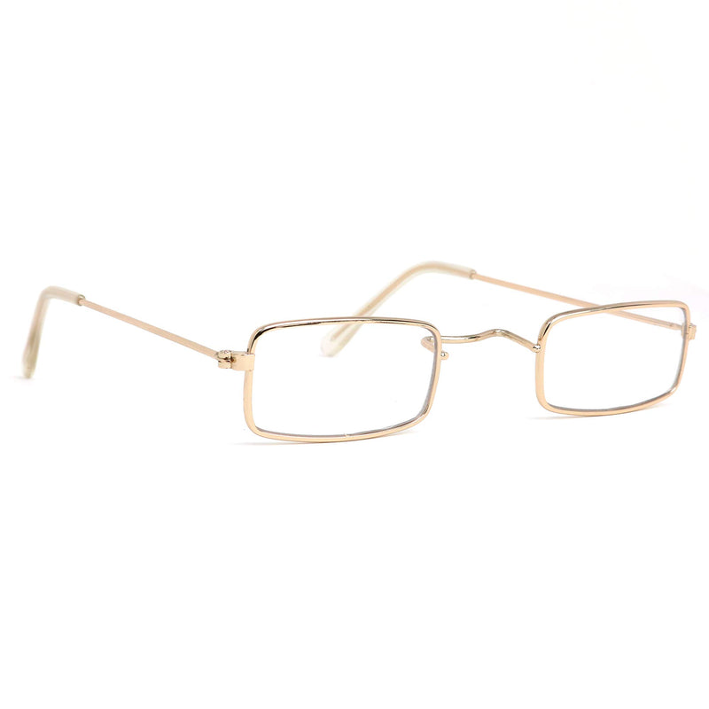 Old Man Costume Glasses - Rectangular Granny Dress Up Eyeglasses - 1 Pair