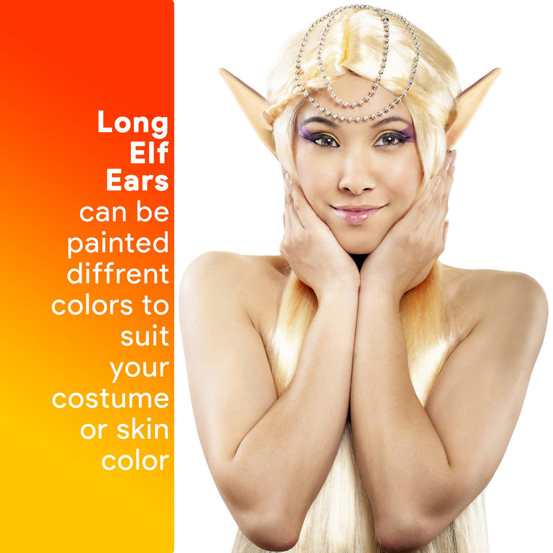 Skeleteen Costume Elf Ear Cuffs - Fairy Mystical Pixie Elven Ears Two Sets of Different Sizes for Men Women and Childrens Costumes