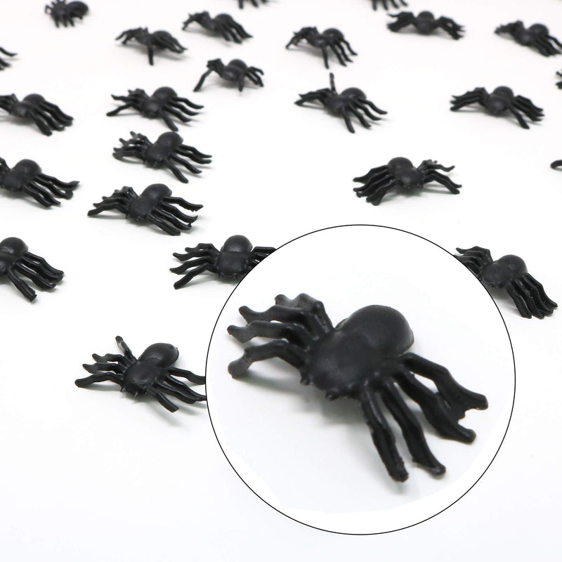 Realistic Spider Table Sprinkles - Fake Spiders for Decorations and Favors - 144 Pieces