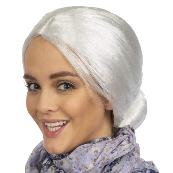 White Old Lady Wig