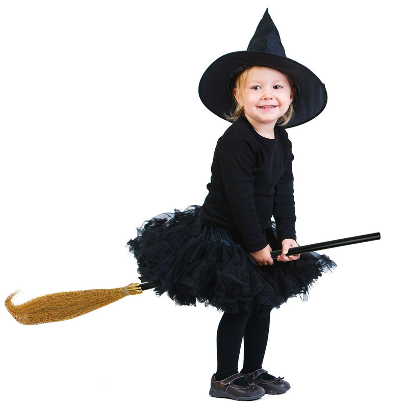 Witch Broomstick Costume Accessories - Realistic Wizard Flying Broom Stick Accessory for Costumes