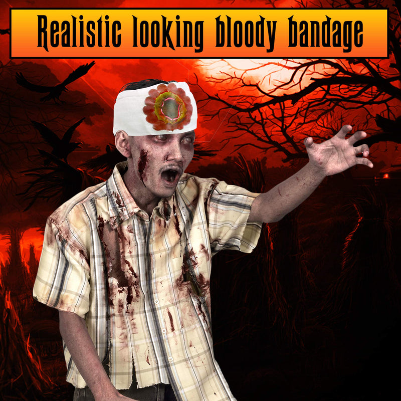 Bloody Wound Gauze Bandage - Halloween Blood Costume Bandages 1 Piece Assorted Styles