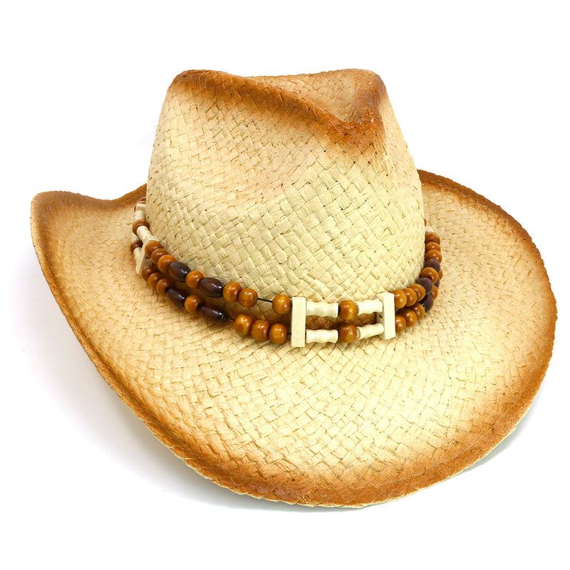 Western Straw Cowboy Hat - Straw Woven Cow Boy Hats Costume Accessories - 1 Piece