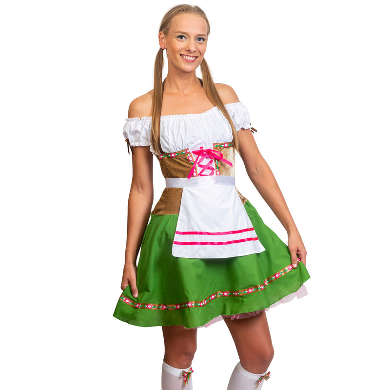 Oktoberfest Beer Girl Costumes - German Bavarian Traditional Womens Oktober Fest Dirndl Dress (Medium)
