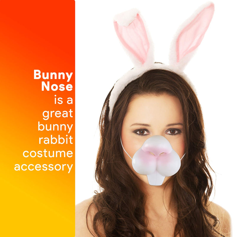 Bunny Rabbit Costume Nose - Bunny Nose and Teeth Costume Accessory Face Mask for Adults and Children White