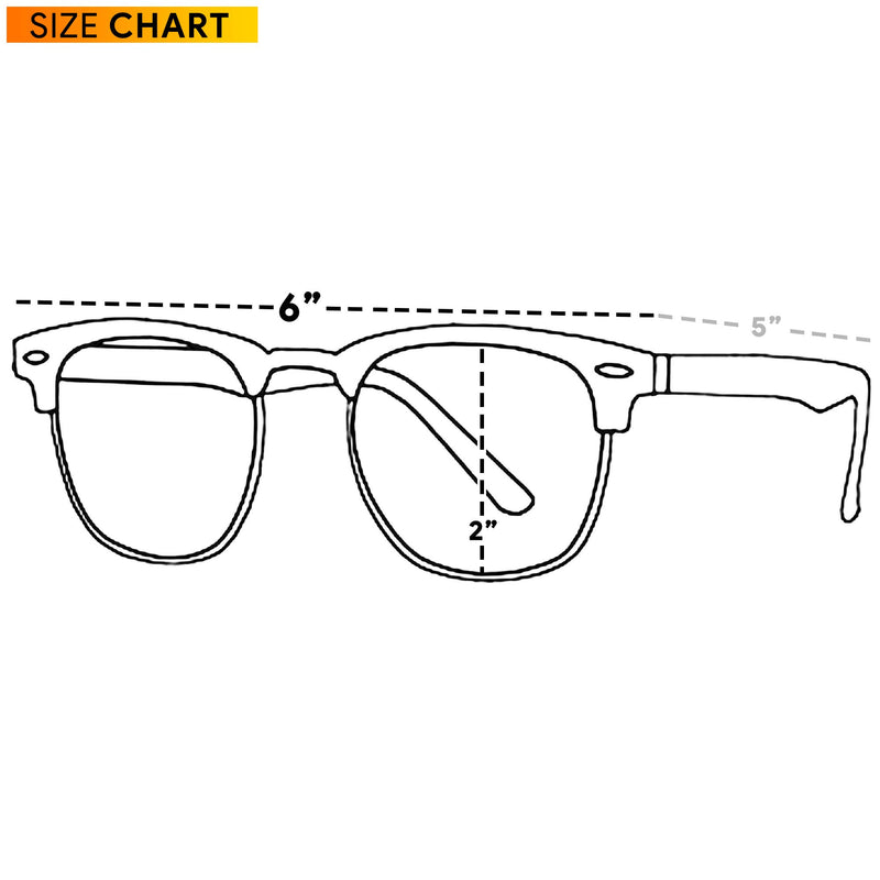 Clear Lens Costume Glasses - Non Prescription Horn Rimmed Fake Club Eyeglasses for Adults and Children Black