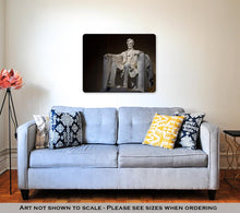 Load image into Gallery viewer, Metal Panel Print, Abraham Lincoln Statue In Lincoln Memorial Washington Dc