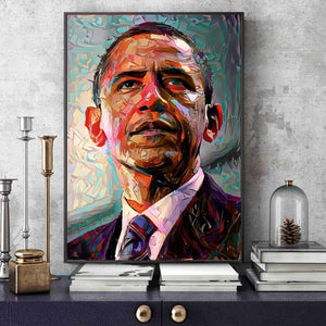 President Obama Art Canvas Print