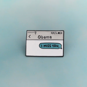Obama Text Message Lapel Pin