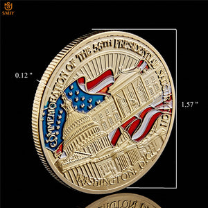 Commemorative Barack Obama Golden Coin