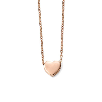 Elements 9ct Rose Gold Heart Charm Necklace GN235