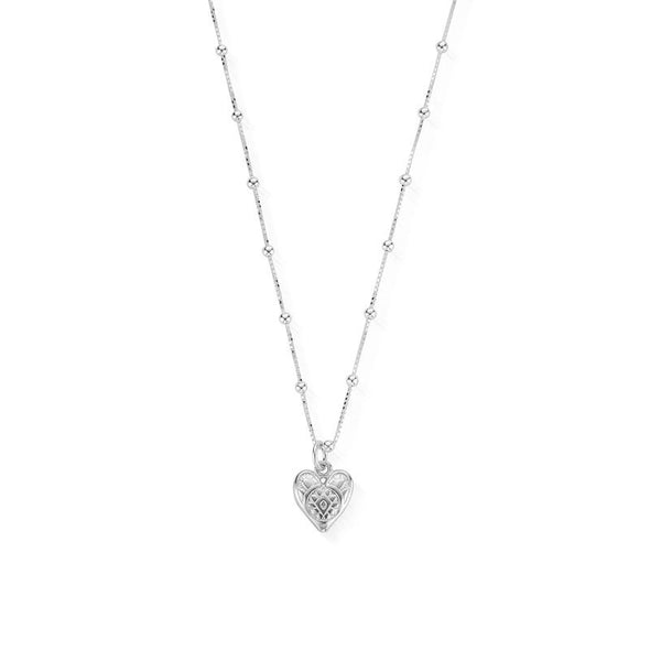 ChloBo Bobble Chain decorated heart Necklace SNBB691