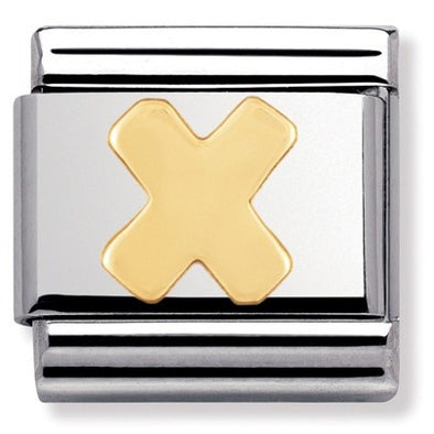 Nomination Gold Letter X Charm 030101-24