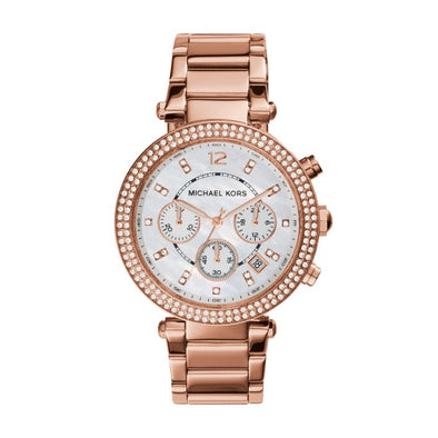 Michael Kors Lds Rose Parker Watch MK5491