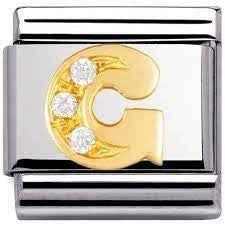 Nomination Gold CZ Letter G Charm 030301-07