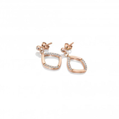 Hot Diamonds Behold Rose Drop Earrings DE647