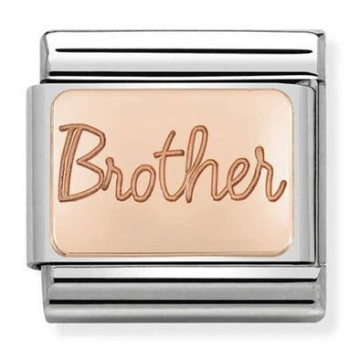 Nomination Rose Gold Brother Plate Charm 430101-37