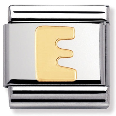 Nomination Gold Letter E Charm 030101 05
