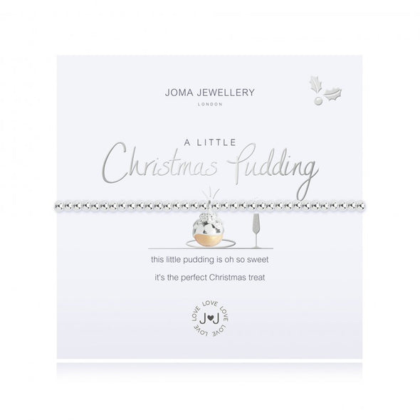 Joma Jewellery A little Christmas Pudding Bracelet 2706