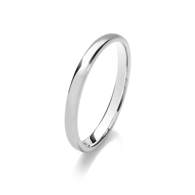 Ladies Medium Weight Traditional Court Wedding Ring - Click To Choose Width & Metal