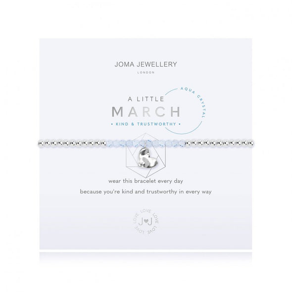 Joma Jewellery A Little Birthstone March Aqua 3462