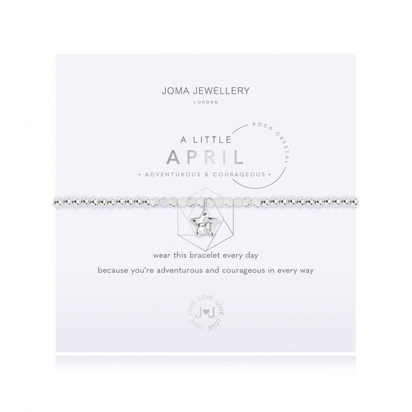 Joma Jewellery A Little Birthstone April Rock Crystal 3463