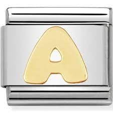 Nomination Gold Letter A Charm 030101-01