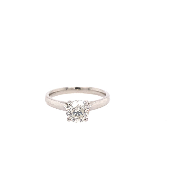 Platinum Diamond Solitaire Ring 1.14ct - ASM1551