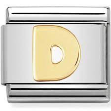 Nomination Gold Letter D Charm 030101-04