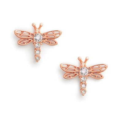 Olivia Burton Dancing Dragonfly Stud Earrings Rose Gold OBJAME146