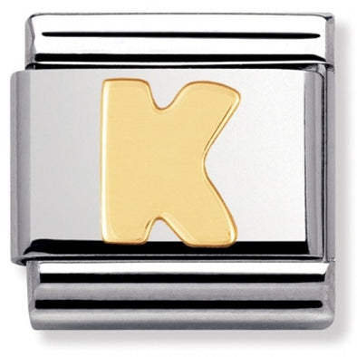Nomination Gold Letter K Charm 030101-11