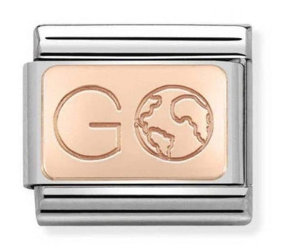 Nomination Rose Gold Go Earth Charm 430110-01