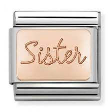 Nomination rose Gold Sister plate charm 430101-38
