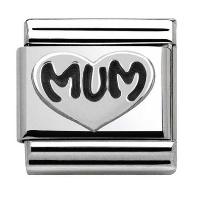 Nomination Silver Mum Heart Charm 330101-12