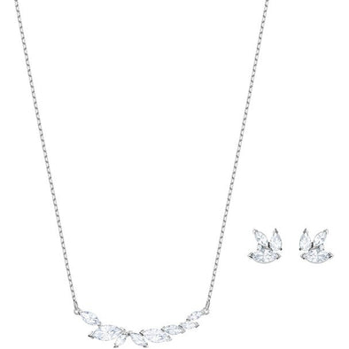 Swarovski Crystal Louison Rhodium Plated Set 5419879