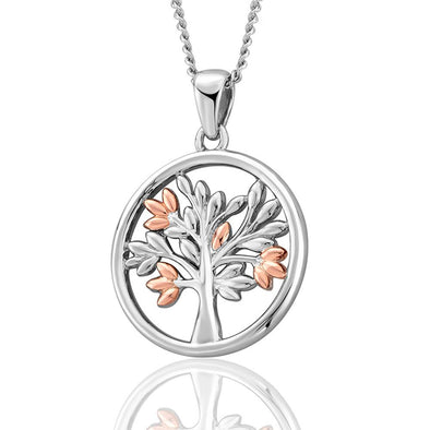 Clogau Tree of Life Circle Pendant Silver and 9ct gold 3SNTLCP