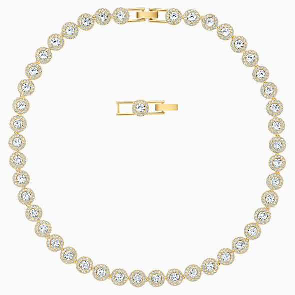 Swarovski Angelic White Crystal Pave Gold Tone Necklace 5505468