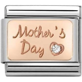 Nomination Rose Gold CZ Mothers Day Charm 430316-01