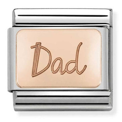 Nomination Rose Gold Dad Plate Charm 430101-32