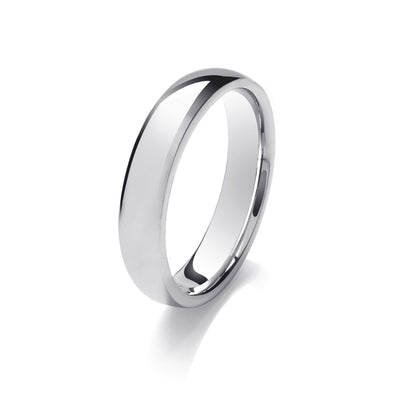 Gents Medium Weight Traditional Court Wedding Ring - Click To Choose Width & Metal