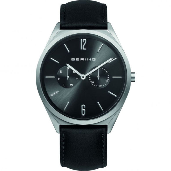 Bering Gents Black Strap S/S Black Dial watch 17140-402