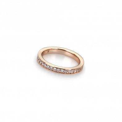 Hot Diamonds Emozioni Purity Rose Gold Plated Ring ER008