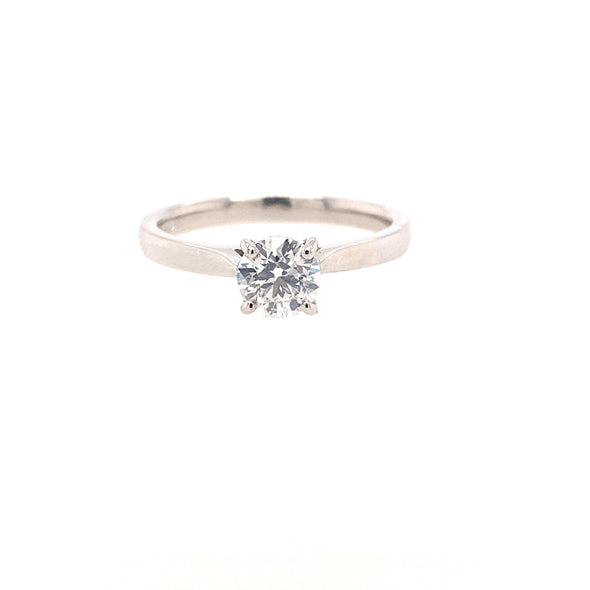 Platinum Solitaire Diamond Ring 0.70ct ASM1557
