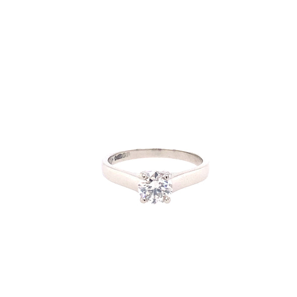 Platinum Diamond Solitaire Ring - 0.72ct - ASM1553