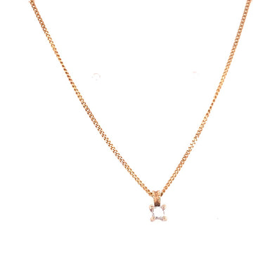 9ct Gold Solitaire Diamond Pendant
